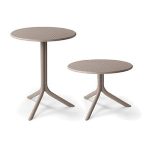 Béžovošedý nastavitelný zahradní stolek Nardi Garden Step