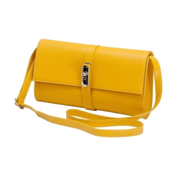 Žlutá kožená kabelka Andrea Cardone 1040