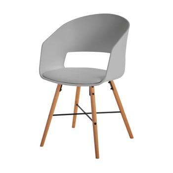 Scaun cu picioare din lemn de fag Interstil Luna, gri de la Interstil