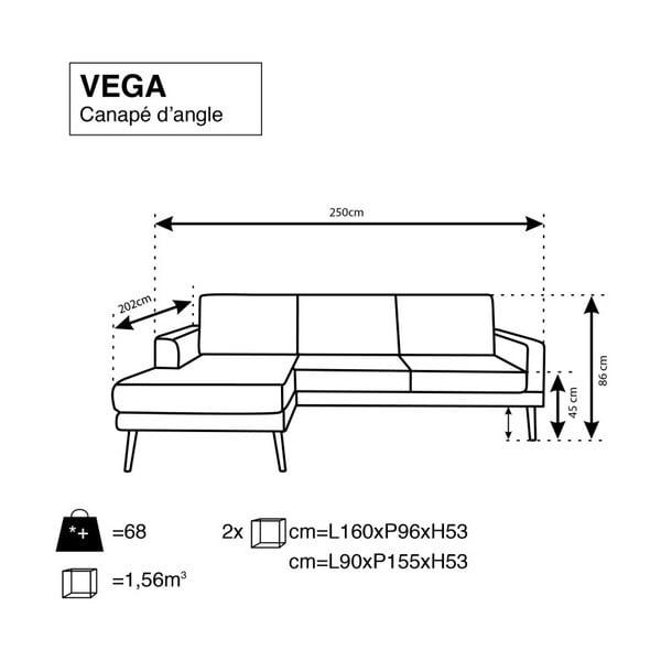 Světle šedá rohová pohovka Windsor & Co Sofas Vega, levý roh