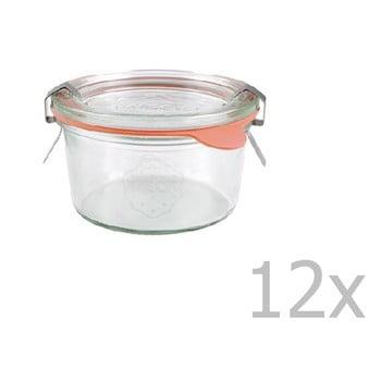 Set 12 borcane cu capac Weck Zylinder, 165 ml imagine