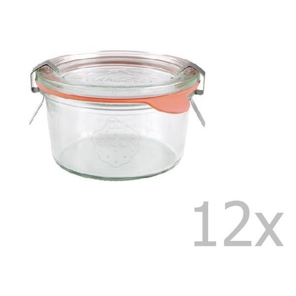 Sada 12 zavařovacích sklenic Weck Sturz, 165 ml