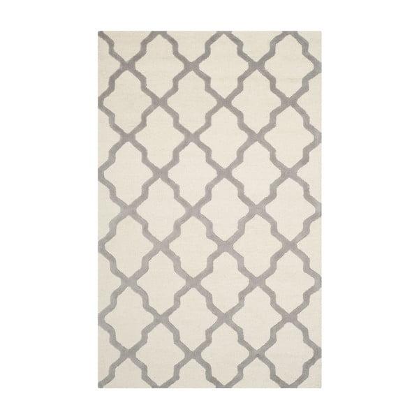 Vlněný koberec Ava 152x243 cm, bílý/šedý