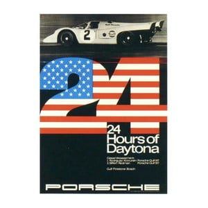 Plakát Porsche Daytona 1970, 70x50 cm