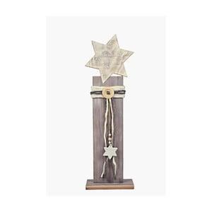 Dřevěná dekorace Ego Dekor Star, výška77cm