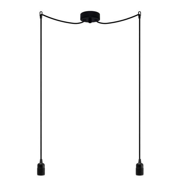 Dvojitý závěsný kabel Uno, černá/černá/černá