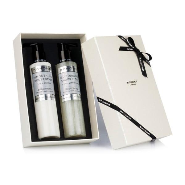 Set sprchového gelu a tělového mléka Bahoma London Eau de Cristal