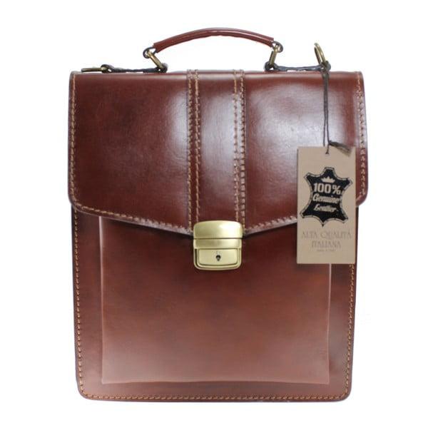 Hnedá pánska kožená taška Chicca Borse Joanna