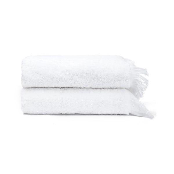 Sada 2 bielych uterákov zo 100% bavlny Bonami, 50 × 90 cm