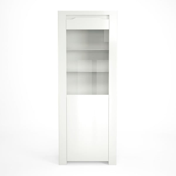 Biela vitrína Artemob Orlando, 68×180 cm