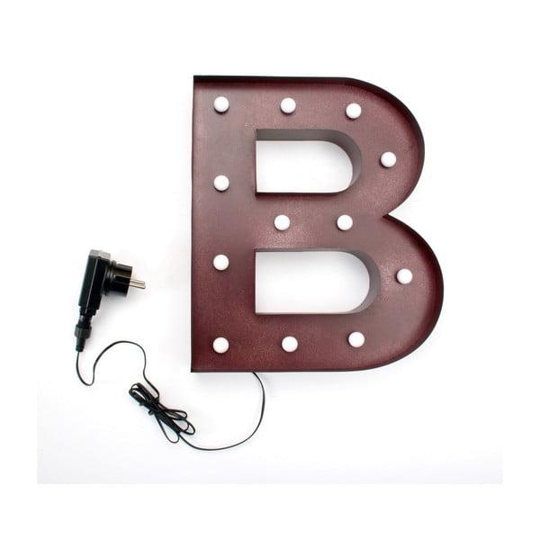 Světelná LED dekorace Letter B