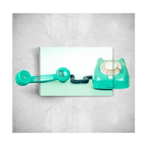 Nástěnný 3D obraz Mosticx Turquoise Telephone, 40 x 60 cm