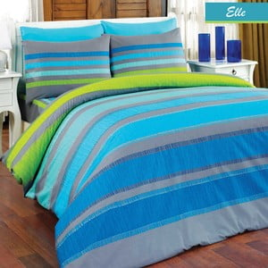 Povlečení Elle Blue Stripes, 160x220 cm