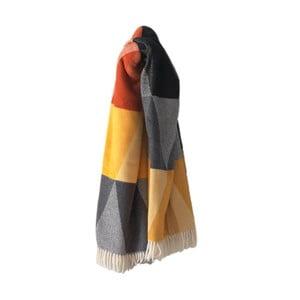 Barevný pléd s podílem bavlny Euromant Terras, 140x180cm