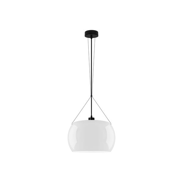 Černo-bílé lesklé závěsné světlo Sotto Luce MOMO Elementary 1S