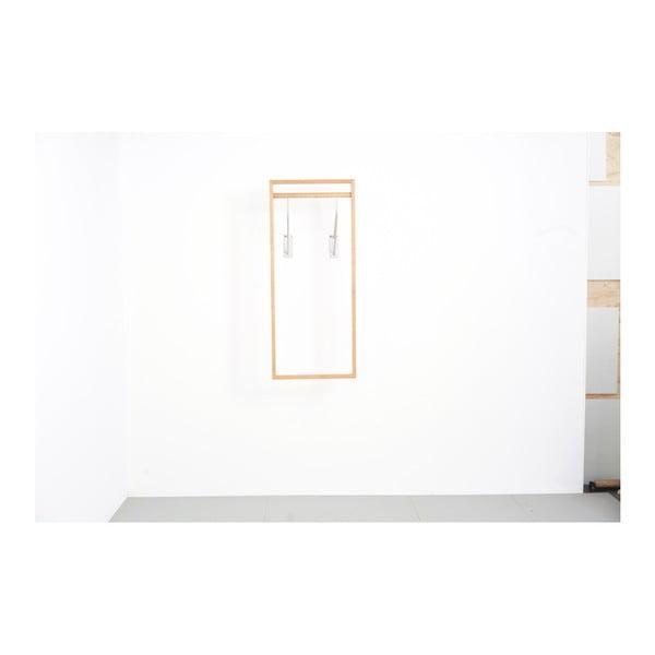 Věšáková stěna z dubového dřeva das kleine b Gardero, 52 x 126 cm