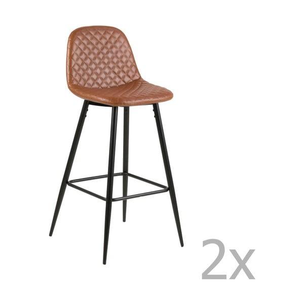 Sada 2 barových židlí Actona Wilma Barstool Vintage