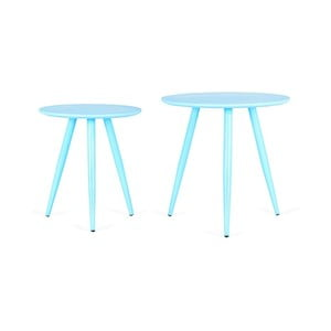 Sada 2 modrých příručních stolků Design Twist Kiko