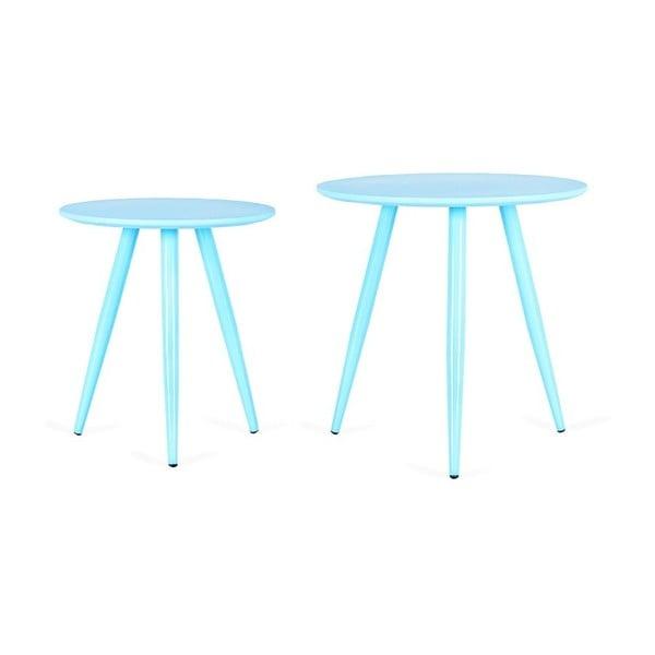 Kiko kék tárolóasztal, 2 db - Design Twist