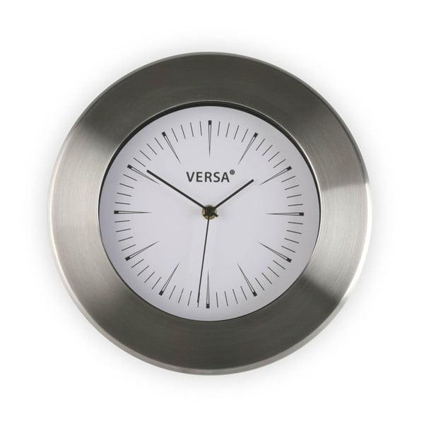 Nástěnné hodiny s bílým ciferníkem Versa Alumo, ⌀30,5cm