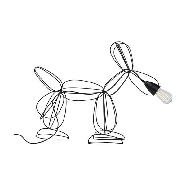 Černá stojací lampa Kare Design Dog