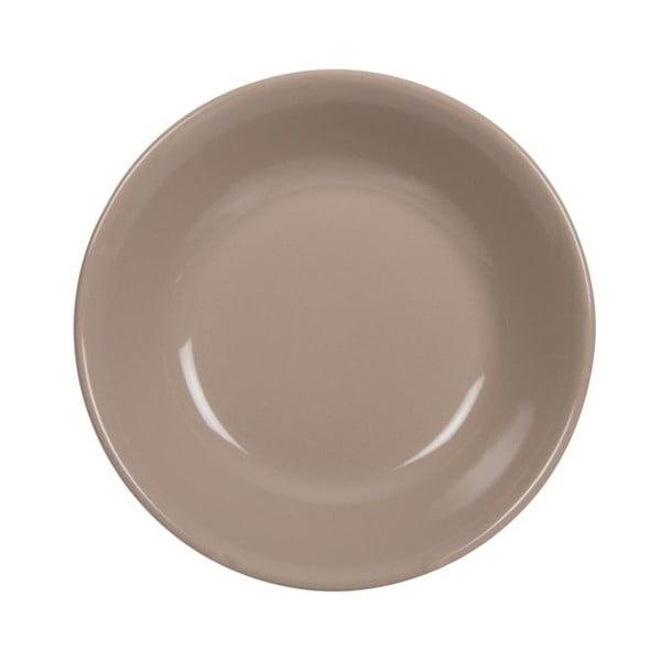 Sada 18 ks keramických talířů Scarlet Brown
