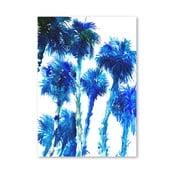 Plakát Trees Blue