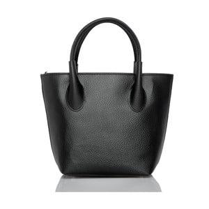 Černá kožená kabelka Glorious Black Molly