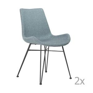 Sada 2 světle modrých jídelních židlí DAN– FORM Hype