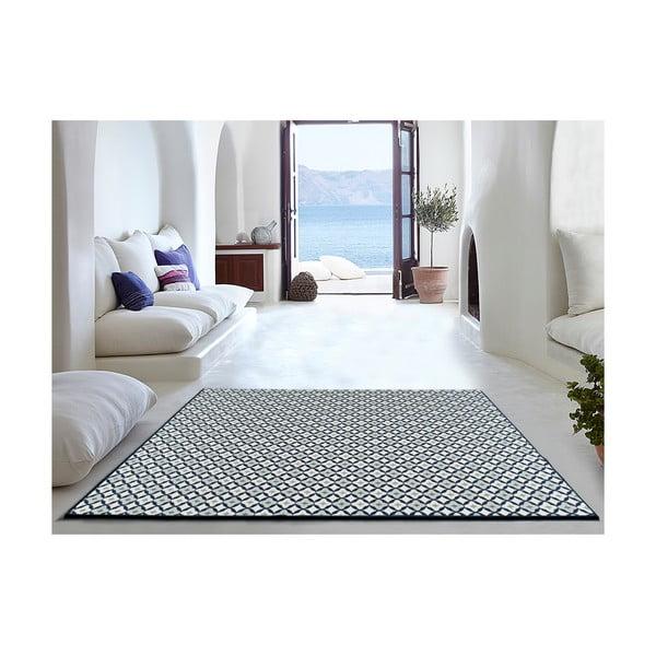 Bílo-modrý koberec Universal Finland vhodný i do exteriéru, 230 x 160 cm
