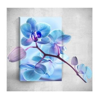 Tablou de perete 3D Mosticx Blue Flower, 40 x 60 cm