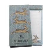 Poznámkový bloček s magnetem Go Stationery Woodland Hare To Do