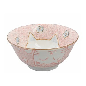Růžová miska Tokyo Design Studio Cat, ø15,3cm