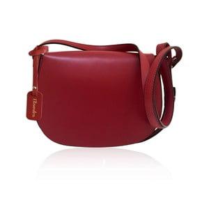 Tmavě červená kožená kabelka Maison Bag Dallas
