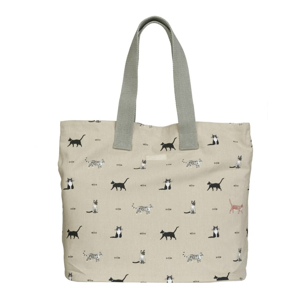 Bavlněná taška spotiskem koček Sophie Allport