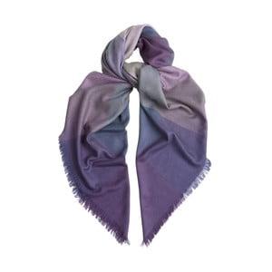 Šátek z kašmíru a hedvábí Hogarth Gradient Heather, 120x120cm