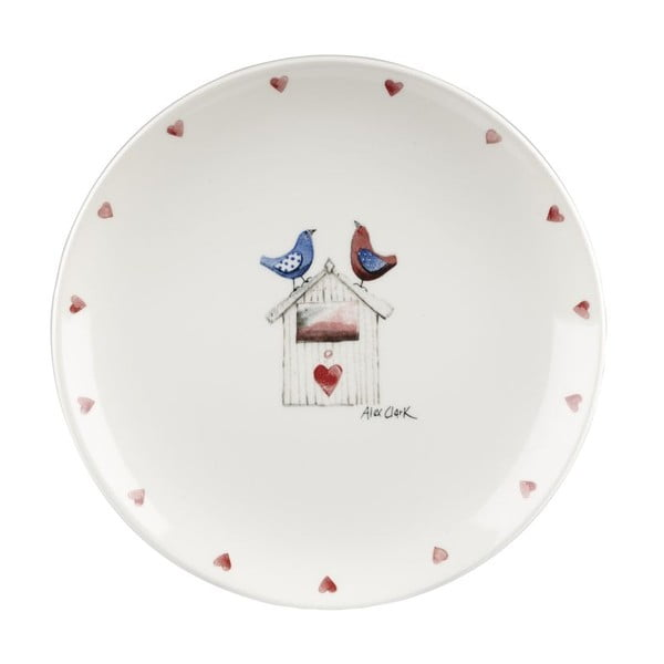 Sada 6 ks talířů Churchill China Two Lovebirds, 20 cm
