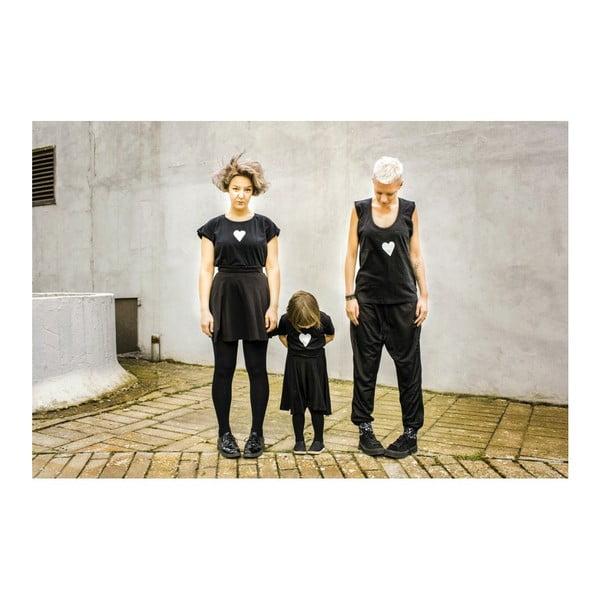 Dámské černé dlouhé triko s rozparky s motivem Spolu od Lény Brauner & IM Cyber pro KlokArt, vel. XL