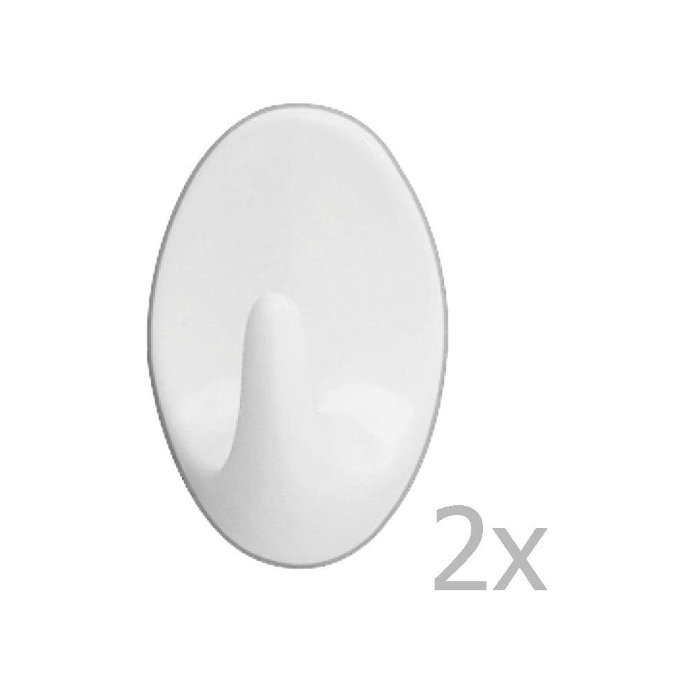 Sada 2 nástěnných háčků Wenko Maxi Hooks White