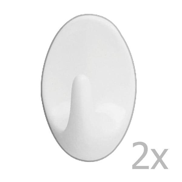 Set 2 cârlige de perete Wenko Strip Maxi Hooks White