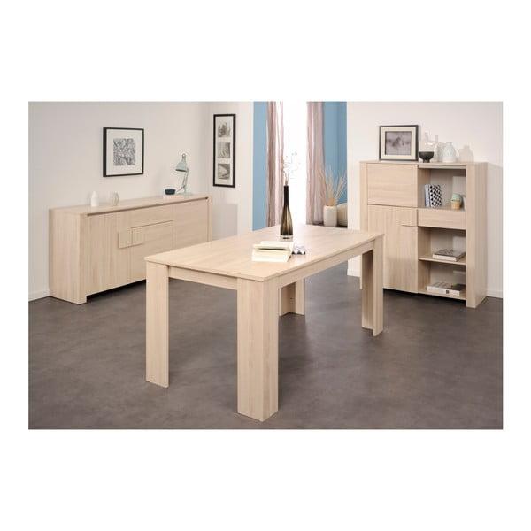 Rozkládací jídelní stůl v dekoru dubového dřeva Parisot Grénoble, 160x88cm
