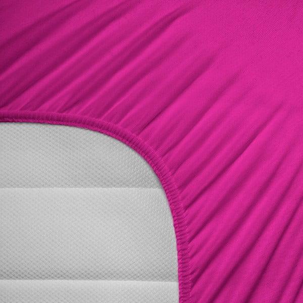Elastické prostěradlo Hoeslaken 140x200 cm, sytě růžové