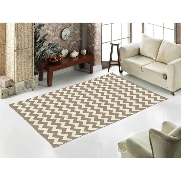 Béžový koberec Home De Bleu Zig Zag, 120x180cm