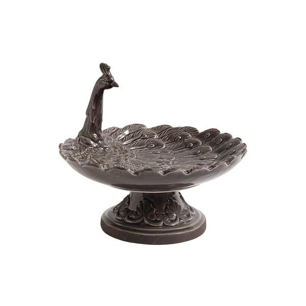 Šedý keramický podnos Nordal Bird