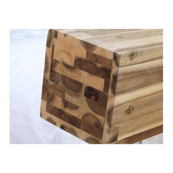 Postel z akáciového dřeva SOB Seba, 180x200cm