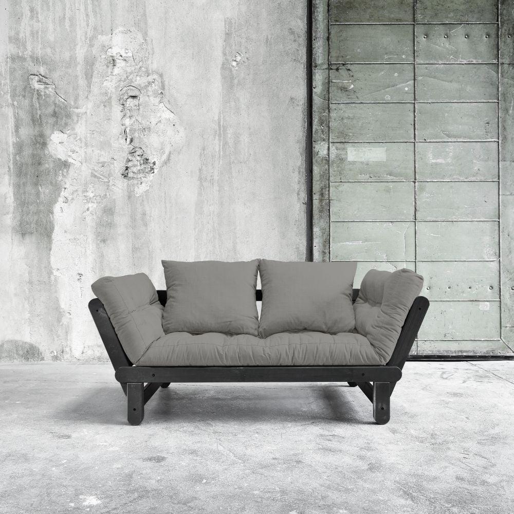 Rozkládací pohovka Beat Black/Granite Grey