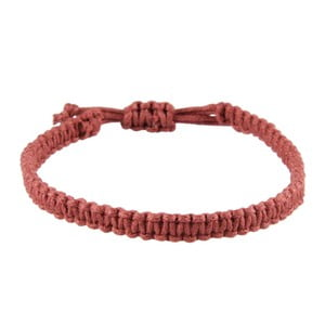 Náramek Macrame plain, brown