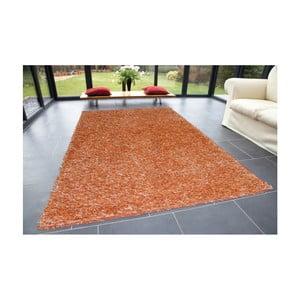 Oranžový koberec Webtappeti Shaggy, 60x100cm