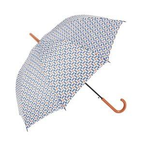 Holový deštník s modrými detaily Print, ⌀97cm