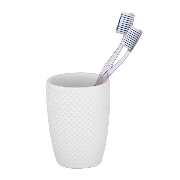 Punto fehér kerámia fogkefetartó pohár - Wenko